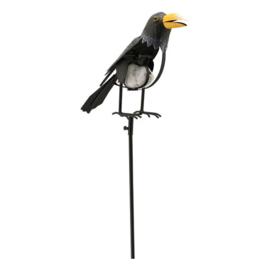 Tuinsteker balans grote vogel met steen