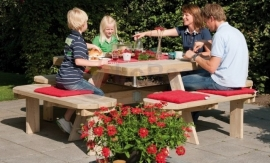 Picknicktafel vierkant 134x134cm