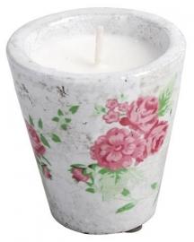 Kaarsenpot groot met roos