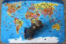 Speelkleed met wereldkaart
