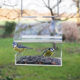 Vogelhuis/voederhuis acryl hangend