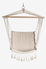 Hangstoel beige macrame