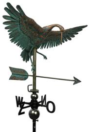 Windwijzer of tuinbeeld Kraanvogel KOPER & RVS