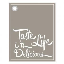 Theedoek 'taste life'