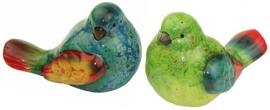 Vogeltjes gekleurd keramiek