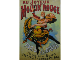 Moulin Rouge,  schilderij van metaal