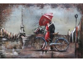 Parijs , schilderij van metaal
