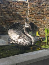 Windwijzer of tuinbeeld Zwaan RVS
