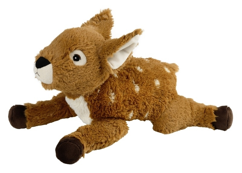 Liggende grote zachte ree/ Bambi ( Beddy Bear magnetronknuffel)