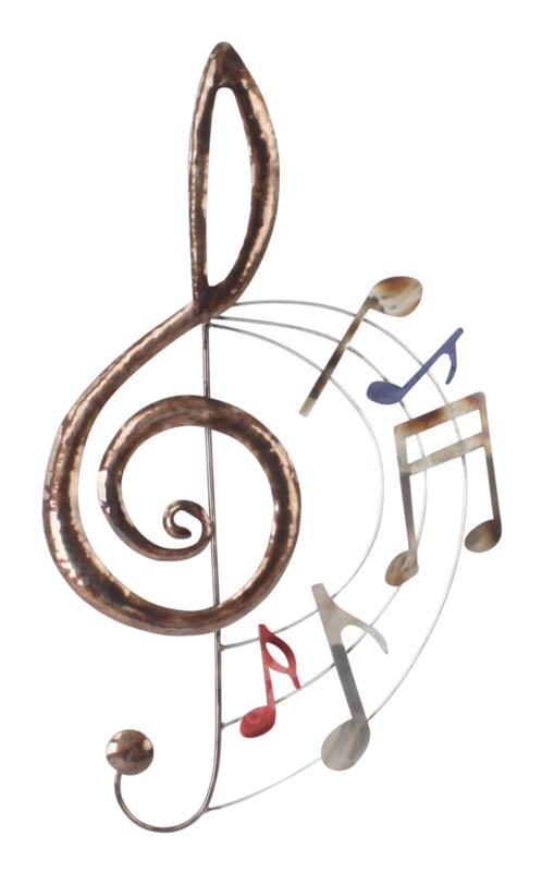 Wand deco muziek