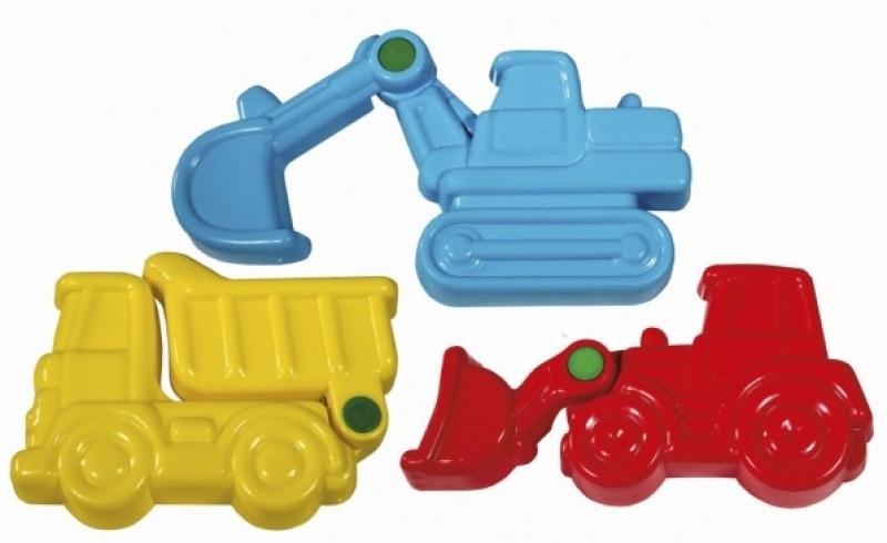 Bouwvoertuigen beweegbare zandvormen