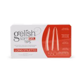 Soft Gel Tips LONG STILETTO 550pcs | Gelish PRE ORDER (verkrijgbaar vanaf mid januari)