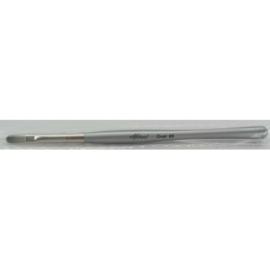 Gel Brush OVAL #6 Ergonomic Silver | Abstract penseel