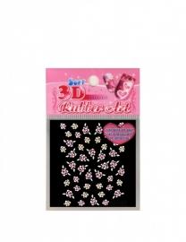 Gekleurde bloemenstickers Roze rozen