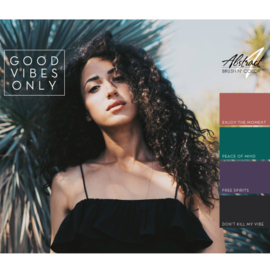 Good Vibes Only Collection   Abstract Brush N' Color
