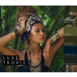 Luxe Tropics Collection | Abstract Brush N' Color