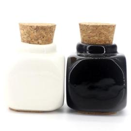Dappendish Porcelein zwart/wit
