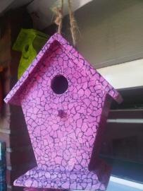 Vogelhuisje, paars