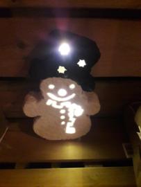 Sneeuwpop DIY-pakket met lichtjes