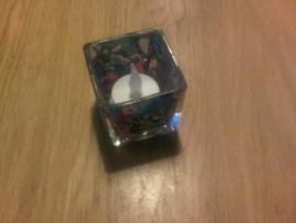 Waxinelicht glas kubus