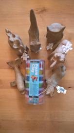 Foam Clay koker metallic + 2 kleine dieren