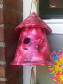 Vogelhuisje, rood