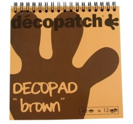 Decopad 'brown' mini vellen