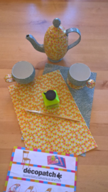 Theepot en koppen DIY, pakket