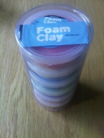 Foam Clay 6 X 14 gr Metallic
