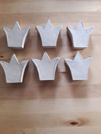 Kroontjes doos, per 6 stuks