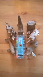 Foam Clay koker glitter + 2 kleine dieren