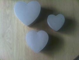 Doosjes hartvorm 3 stuks