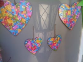 Buitenharten set van 4 harten