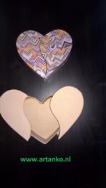 Décopatch, theedoos, tissuedoos of hartvormig doosje