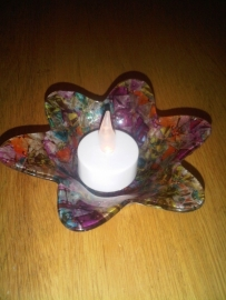 Waxinelicht glas bloem