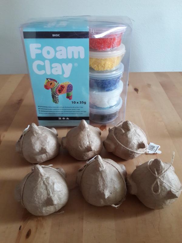 FoamClay basispakket + 6 kippen