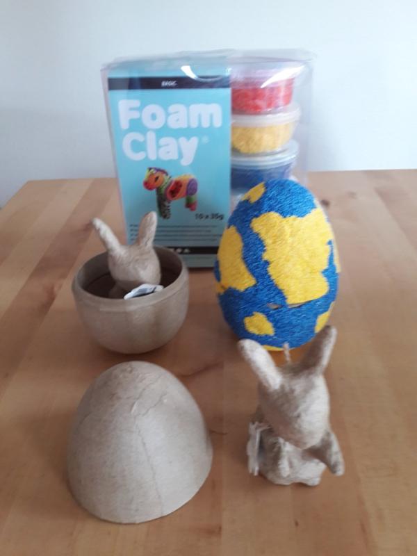 FoamClay basispakket, 2 eieren en 2 paashazen