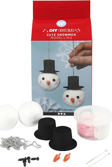Sneeuwpoppen DIY pakket FoamClay