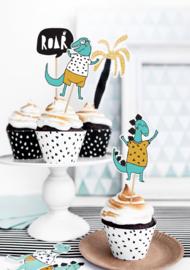 Cupcake wikkels  Dino - 6 stuks