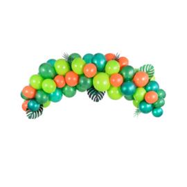 Ballonnenboog decoratie groen - 60 delig
