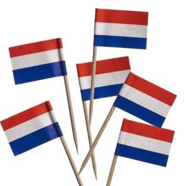 Vlag Nederland prikker - 10 stuks