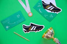 Voetbal uitnodigingskaartjes - 6 stuks