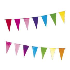 Vlaggenlijn regenboog  papier 10 meter