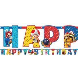 Super Mario Letter en leeftijd slinger XL