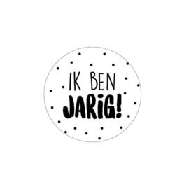 Ronde sticker Ik Ben Jarig - 10 stuks