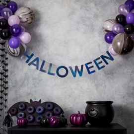 Halloween decoratie set slinger+24 ballonnen
