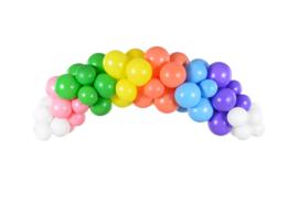 Ballonnenboog decoratie regenboog kleuren - 60 delig