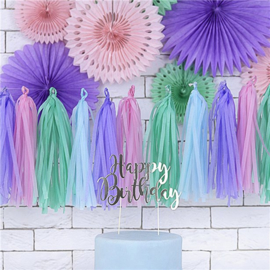 Pastelkleurige Tassels - set van 12