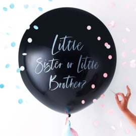 Little Brother or Sister ballon - gender reveal babyshower