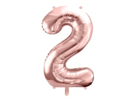 XL Cijfer ballon rose - 2
